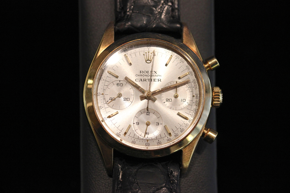 Cartier Signed Rolex Chronograph