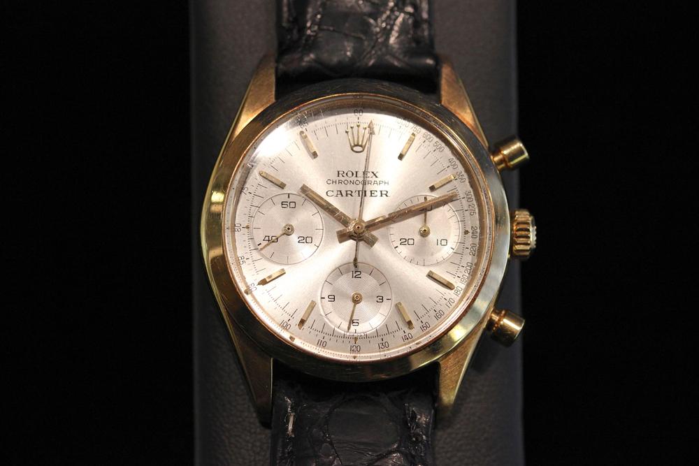 Cartier Signed Rolex Chronograph
