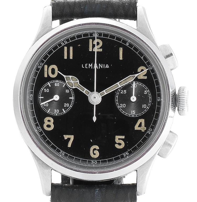 Lemania Military Chronograph