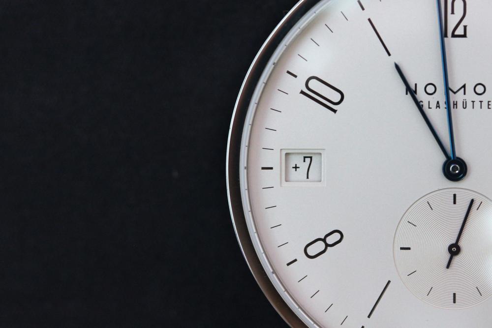 Nomos Tangomat GMT Plus +/- GMT Timezone Indicator