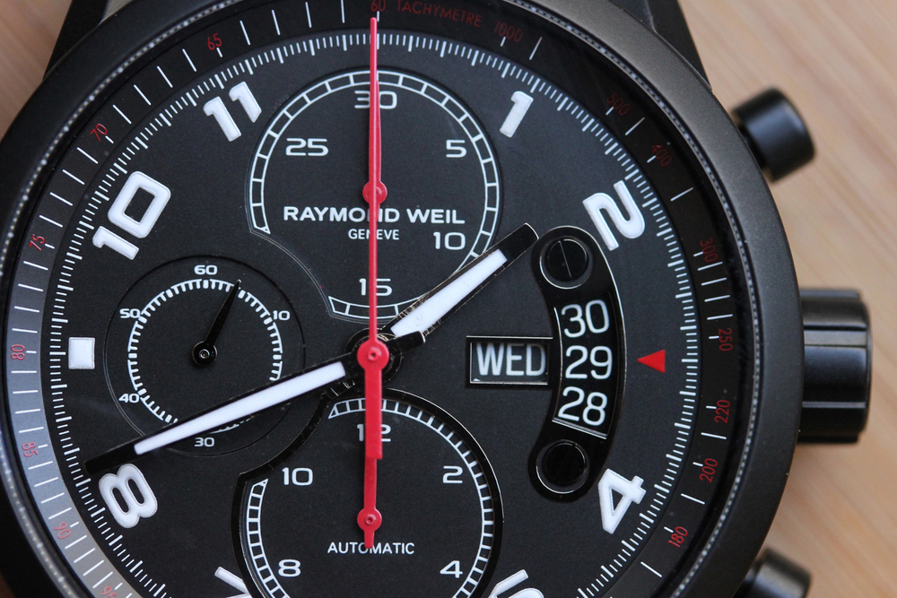 Chronograph Registers, Day/Date, and Internal Tachy Bezel
