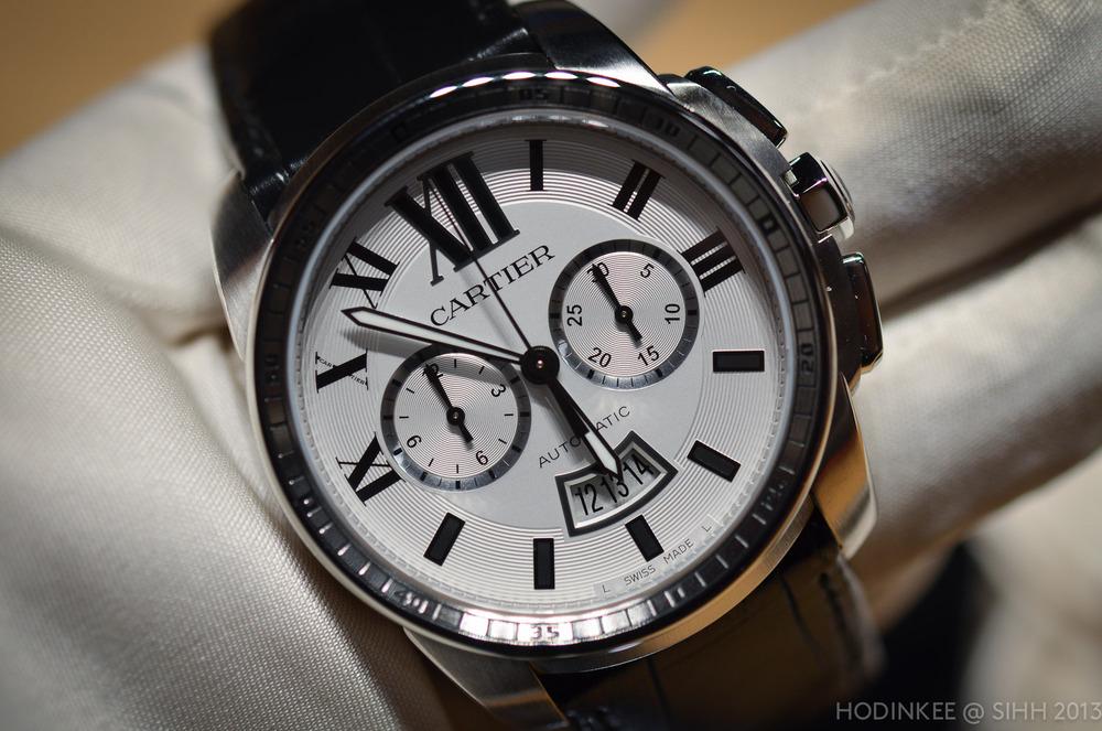 Calibre de Cartier Chronograph on the wrist.
