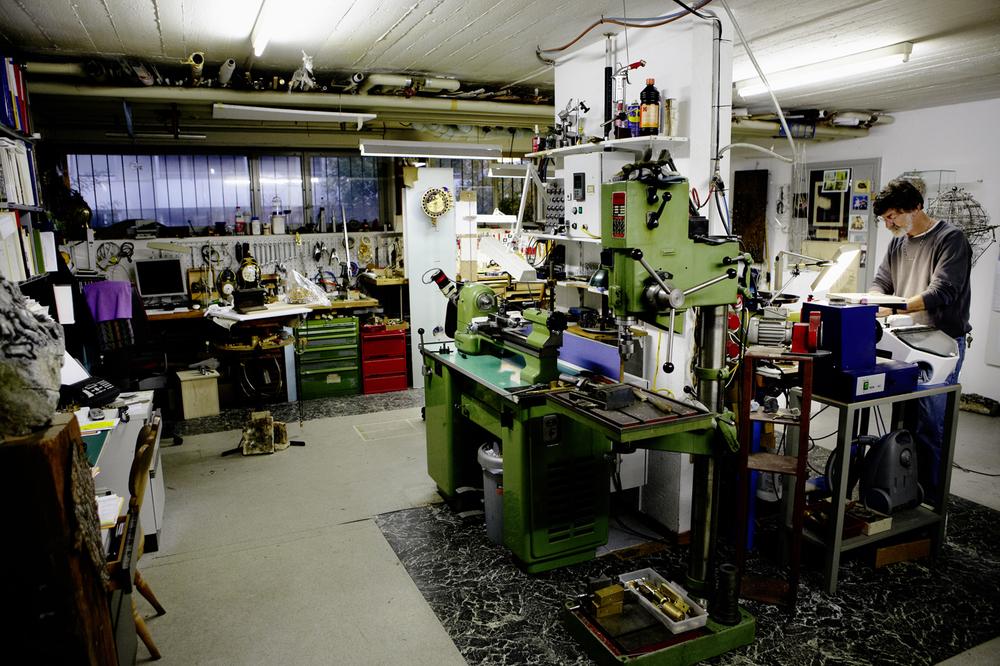 Miki Eleta In His Zurich Workshop