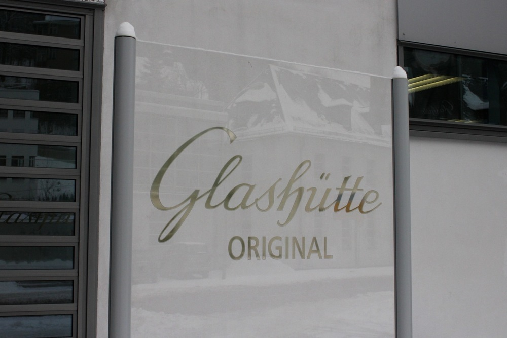 Outside Glashütte Original's Saxon Manufacture