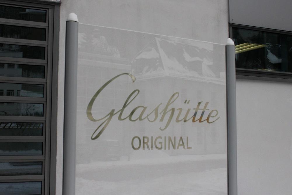 Outside Glashütte Original's Saxon Manufacture