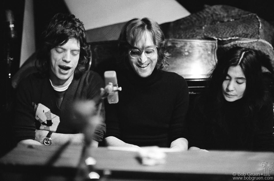 Jagger wearing a Heuer with John Lennon and Yoko Ono