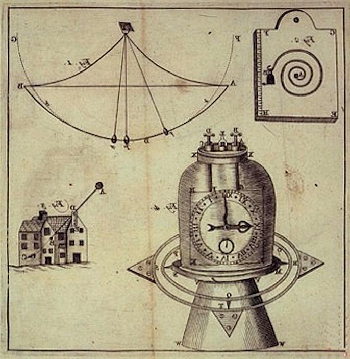 Sketch of Jeremy Thacker's Original Chronometer
