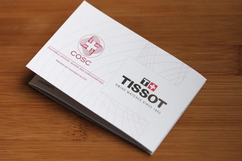 Tissot COSC Certificate