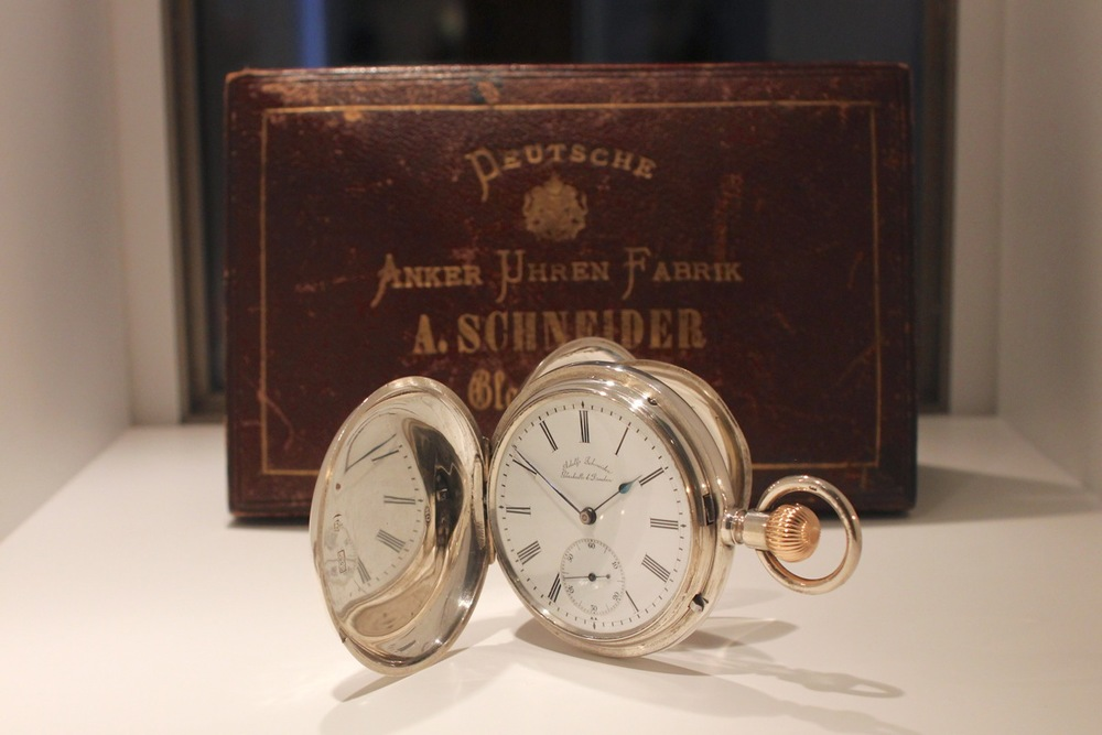 Adolf Schneider pocket watch for the American market, 1880