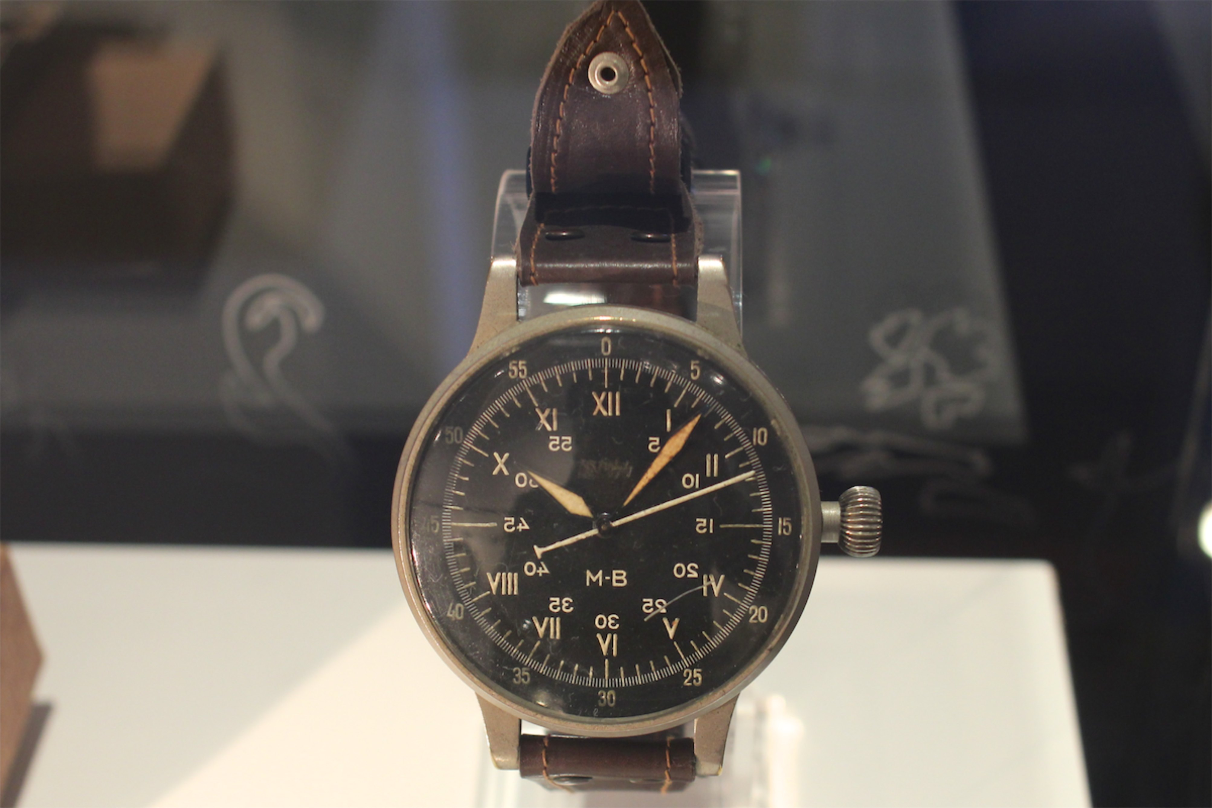 A. Lange & Söhne pilot watch with special SS dial, 1933