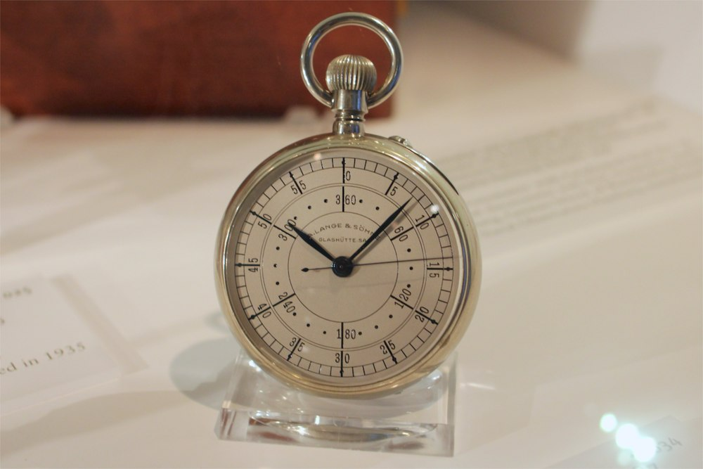 A. Lange & Söhne pocket watch with graduated dial, 1935