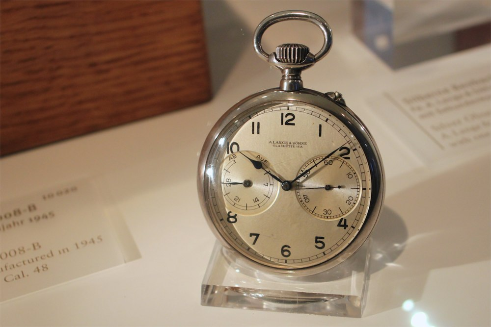 A. Lange & Söhne up-down observatory pocket watch with Cal. 48 movement, 1941