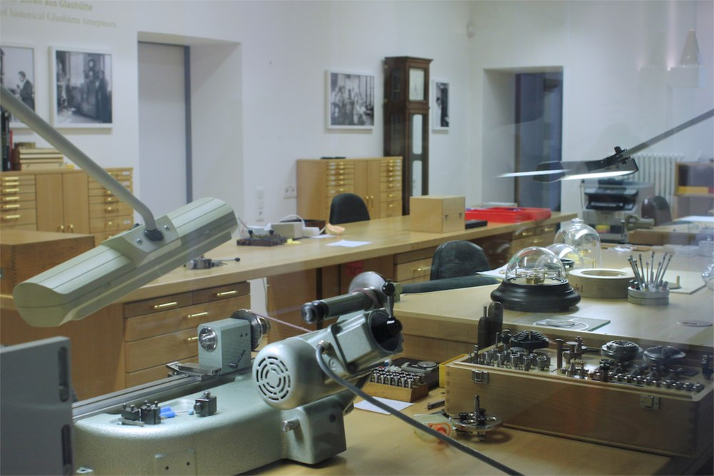 The museum's internal clock and watch workshop