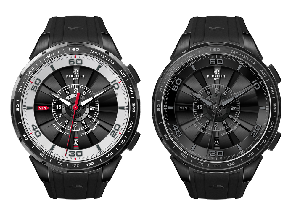 Steel/Titanium and All Black Versions Of The Perrelet Turbine Chrono