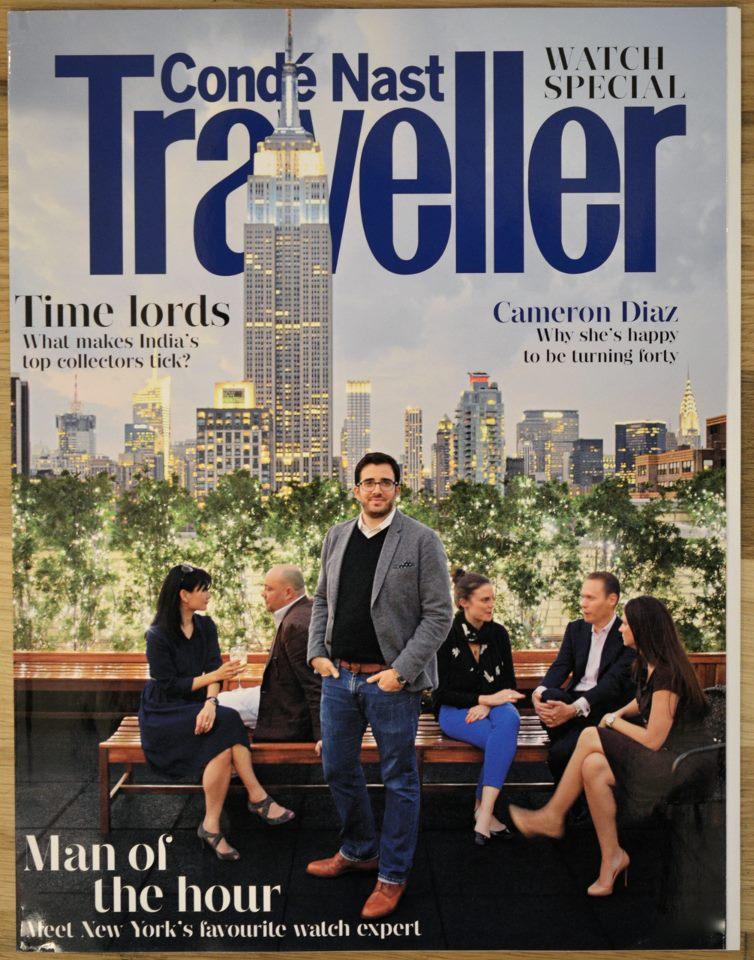 HODINKEE founder Benjamin Clymer graced the cover of Condé Nast Traveler UK's cover in September, 2012.