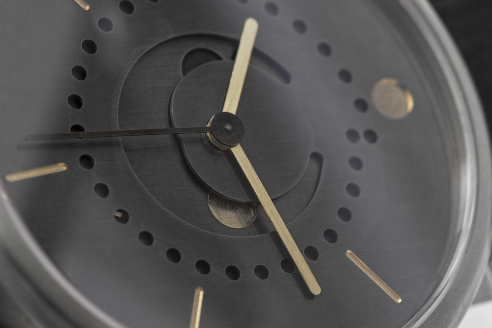 Hand-Patinated Brass Dial