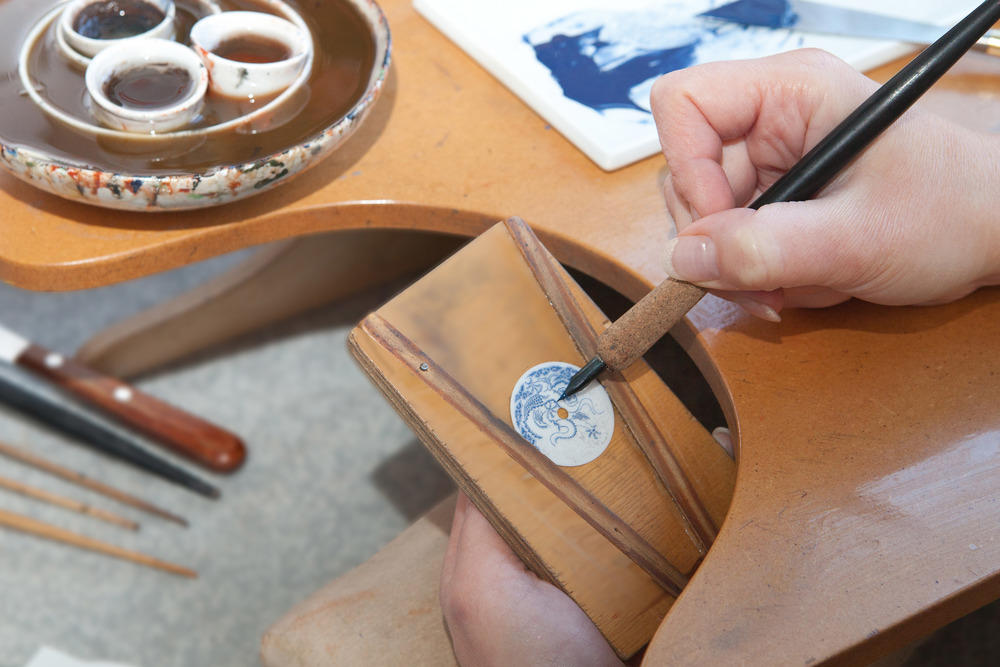 Porcelain Dial Being Worked By Hand