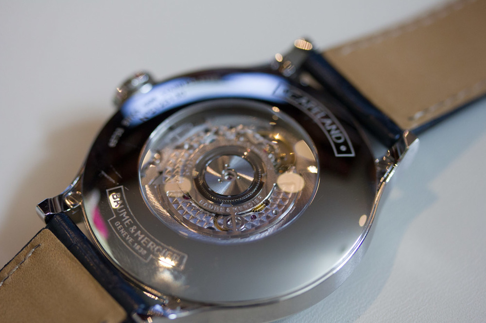 A Look At The Richemont Manufacture Worldtimer Movement Through The Sapphire Back