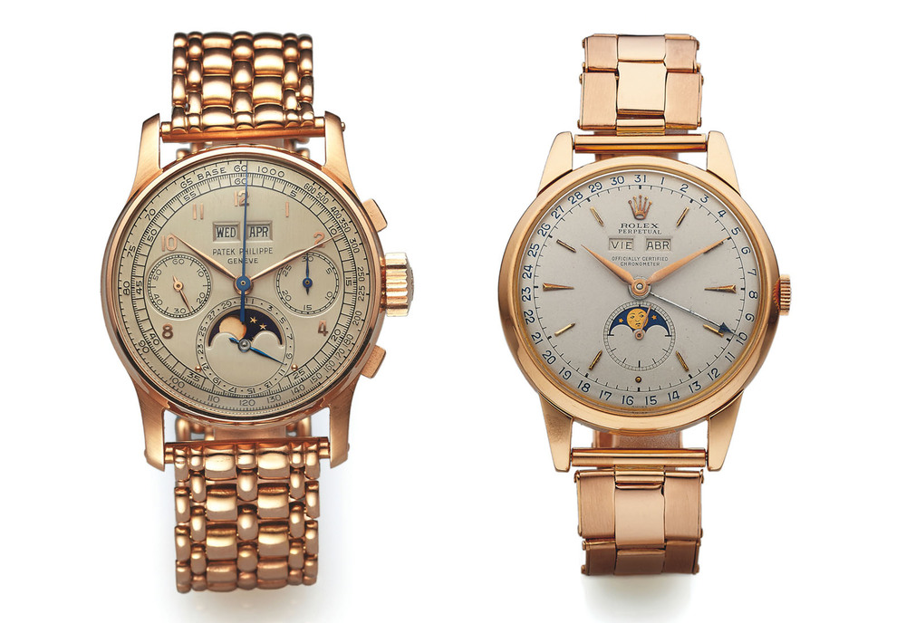 Patek Philippe 1518 and Rolex 8171