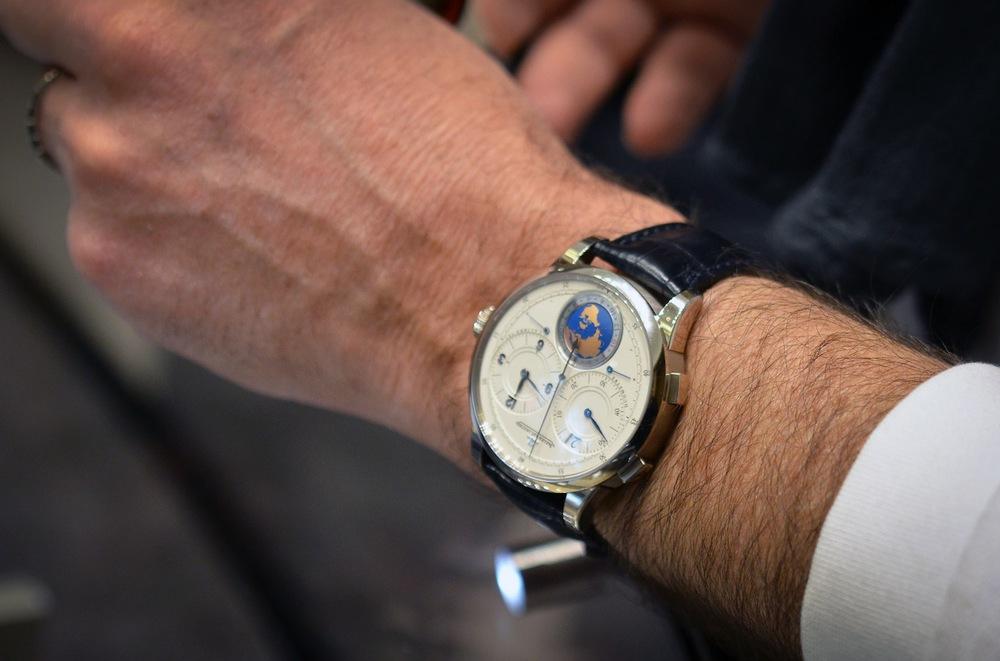 The Duomètre Unique Travel Time on the wrist