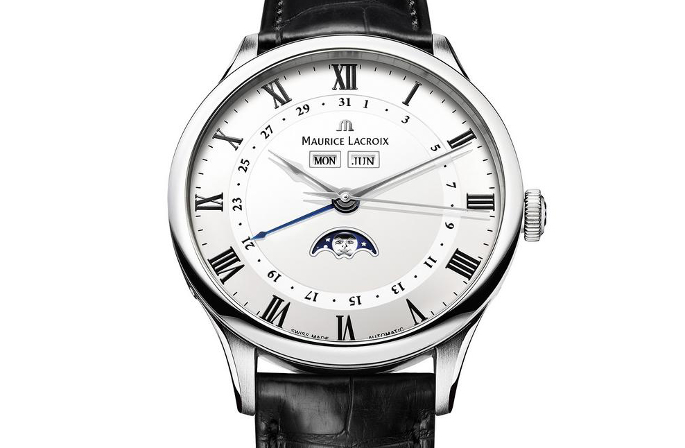 White Lacquer Dial And Black Printed Numerals