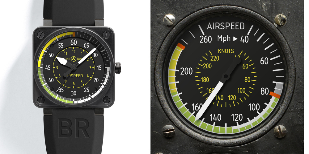 BR 01-92 Airspeed on left, instrument on right