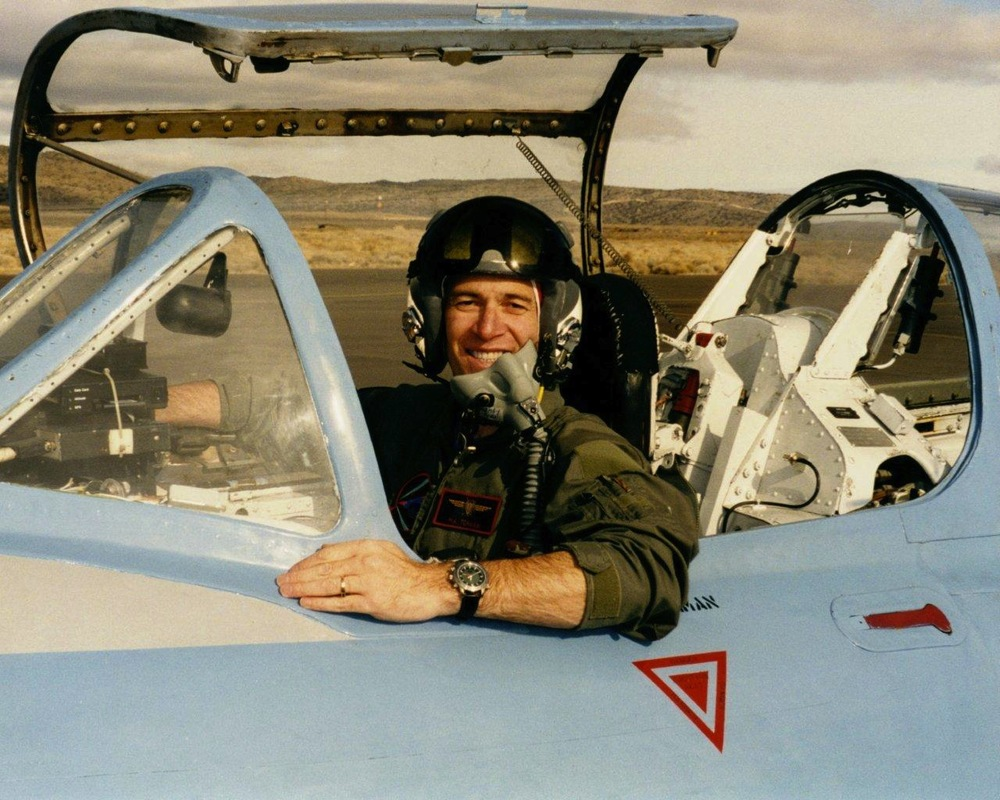 Torman getting ready to launch in MiG 15 wearing original X-33 prototype