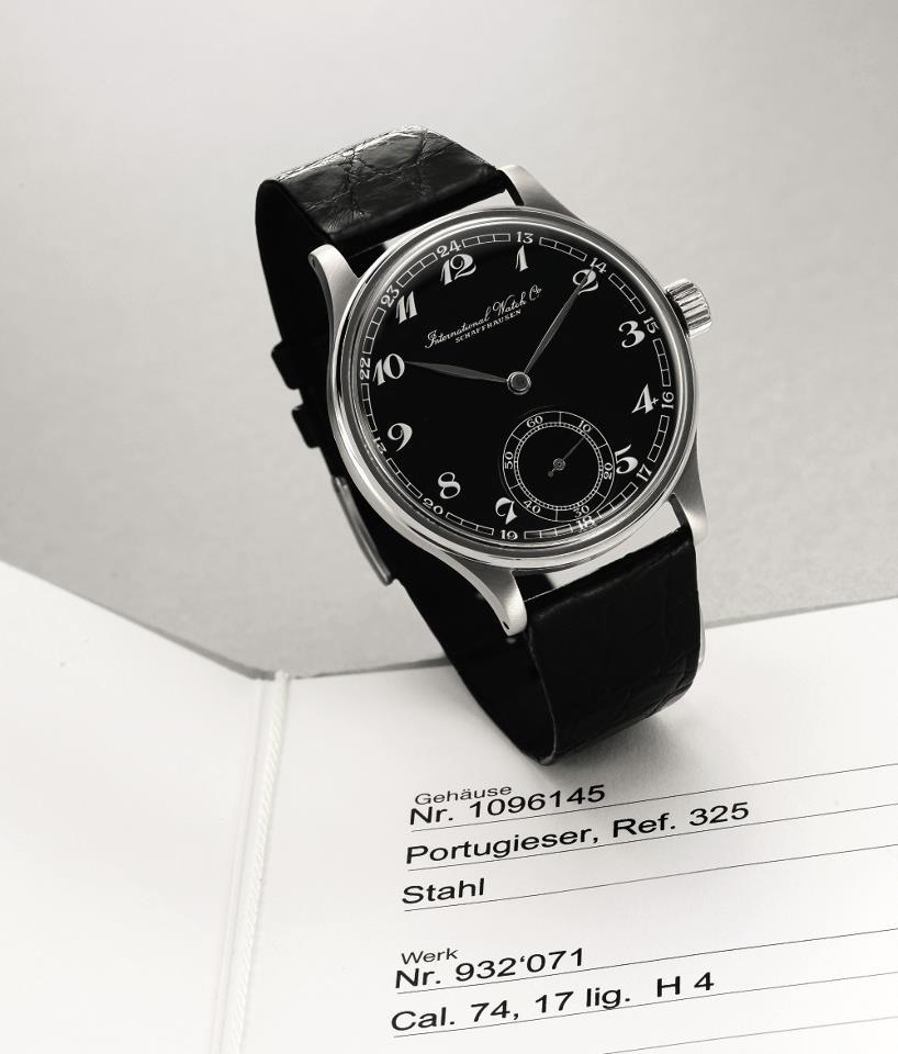 1940s IWC Portuguieser ref. 325, photo © Sotheby's Geneva, 2013