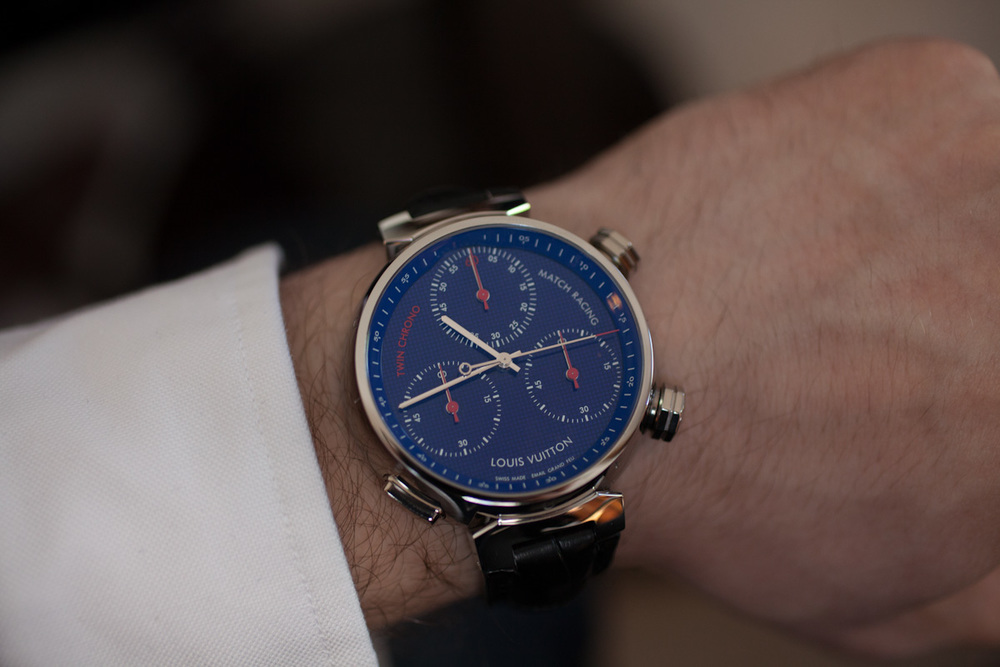 The 47mm Tambour Twin Chrono On The Wrist