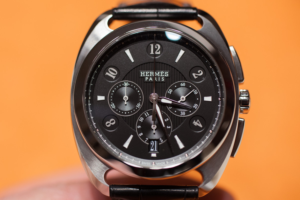 Hermés Dressage Chronograph In Steel and Black