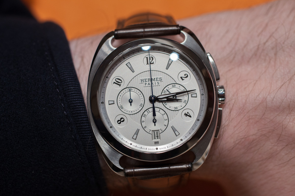 The Opaline Silvered Dial Dressage Chronograph