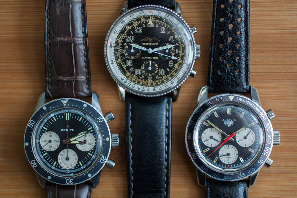 Zenith, Breitling, and Heuer Chronographs