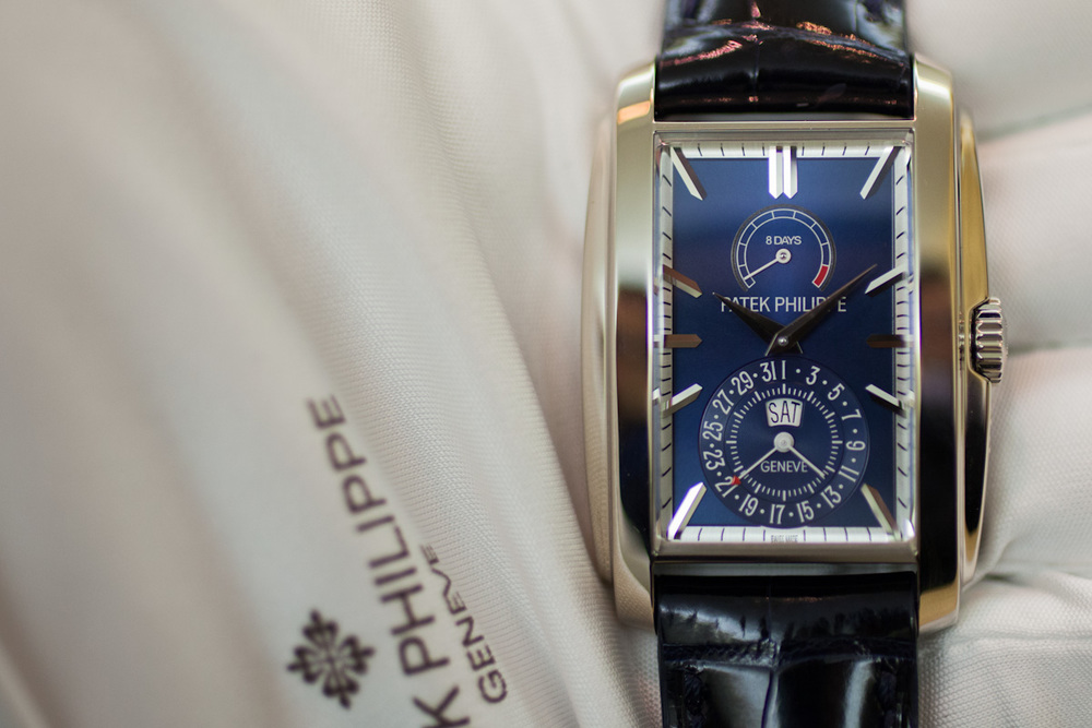 Ref. 5200 Gondolo 8 Day With Blue Dial
