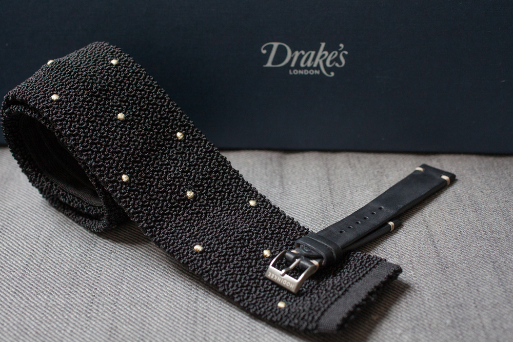 Pre-Production Drake's For HODINKEE Tie & Matching Strap