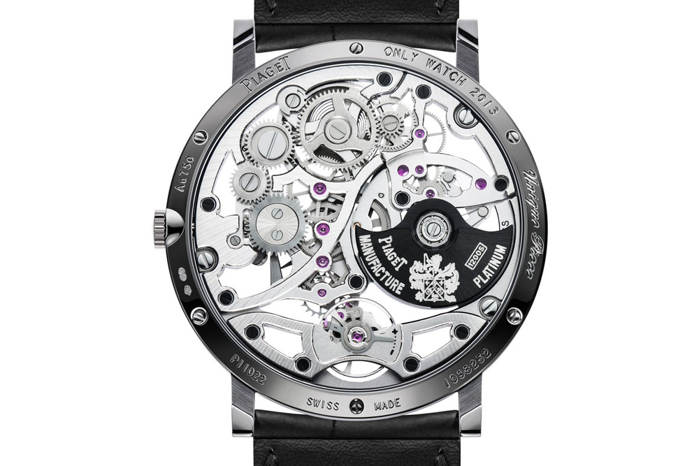 The Back Of The Piaget Only Watch For 2013