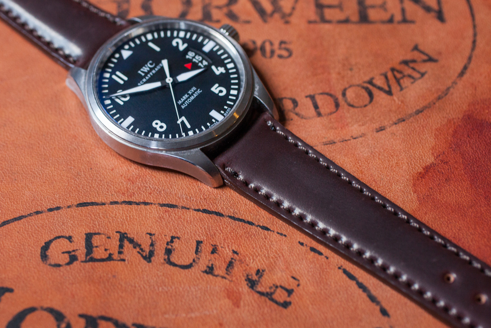 Lined Shell Cordovan Strap In Color #8
