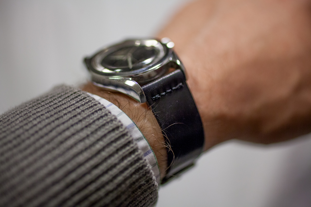 Unlined Black Shell Cordovan Strap On The Wrist