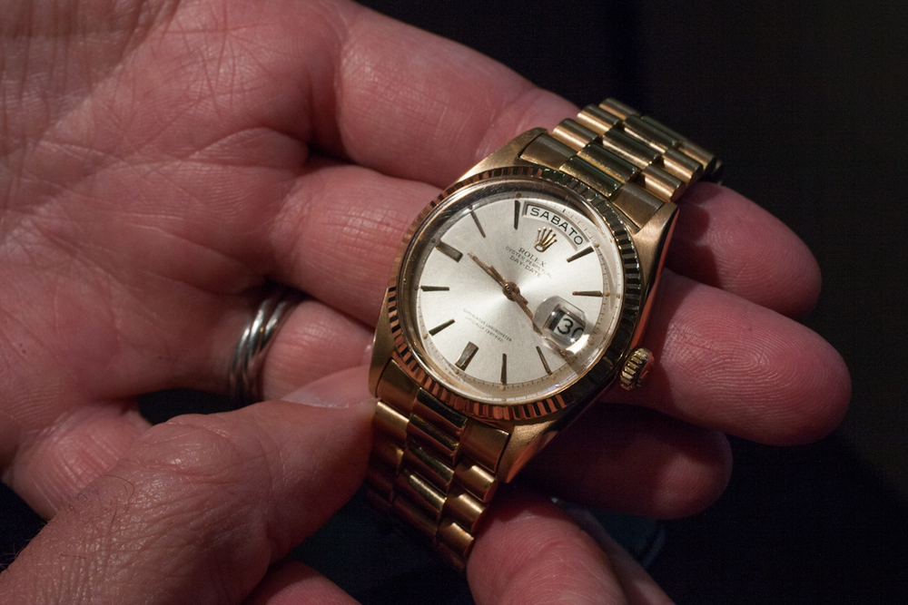 18k Gold Rolex Day Date With Italian Day Ring