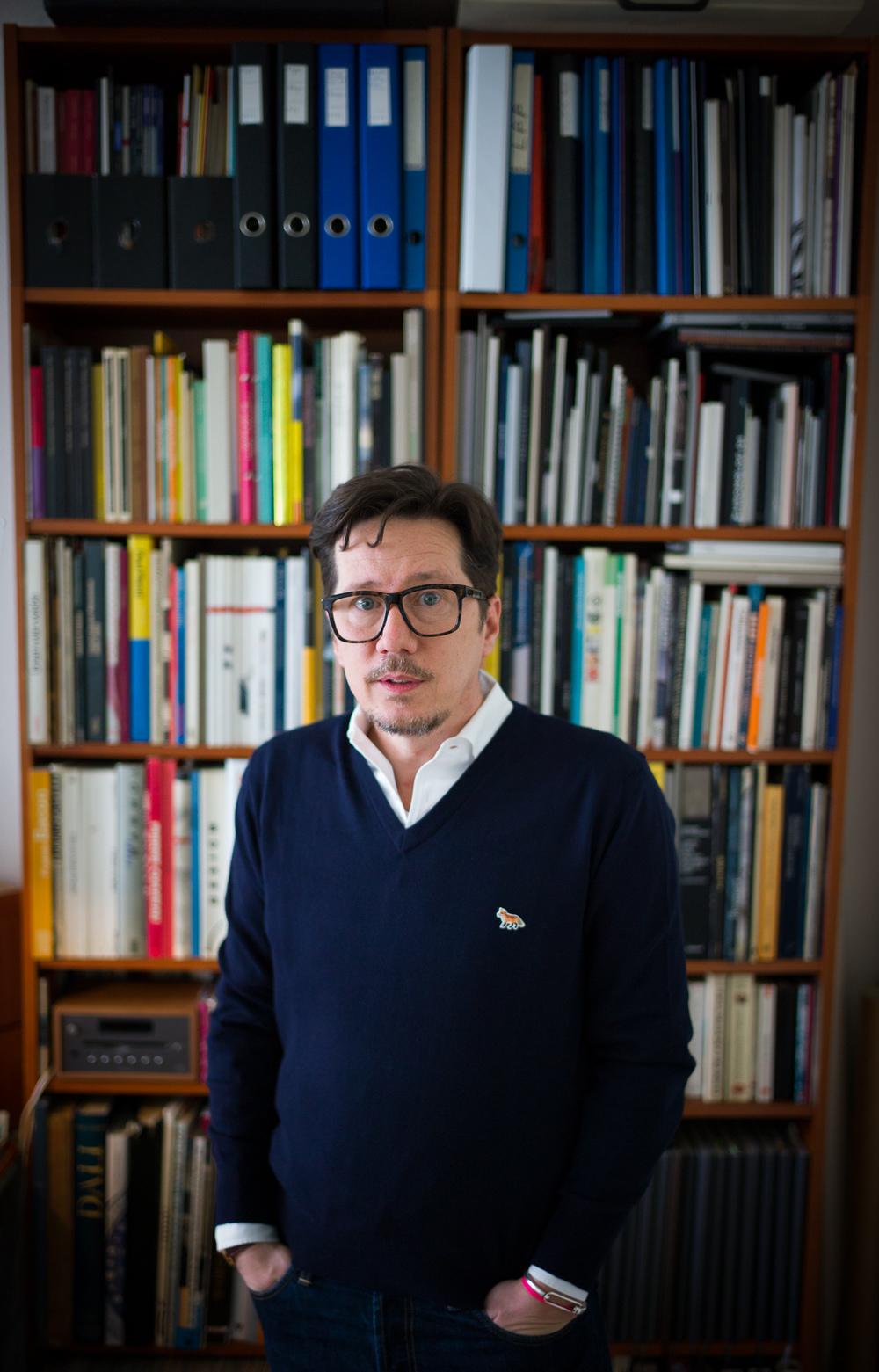 Eric Giroud, photographed inside his home, Geneva, Switzerland