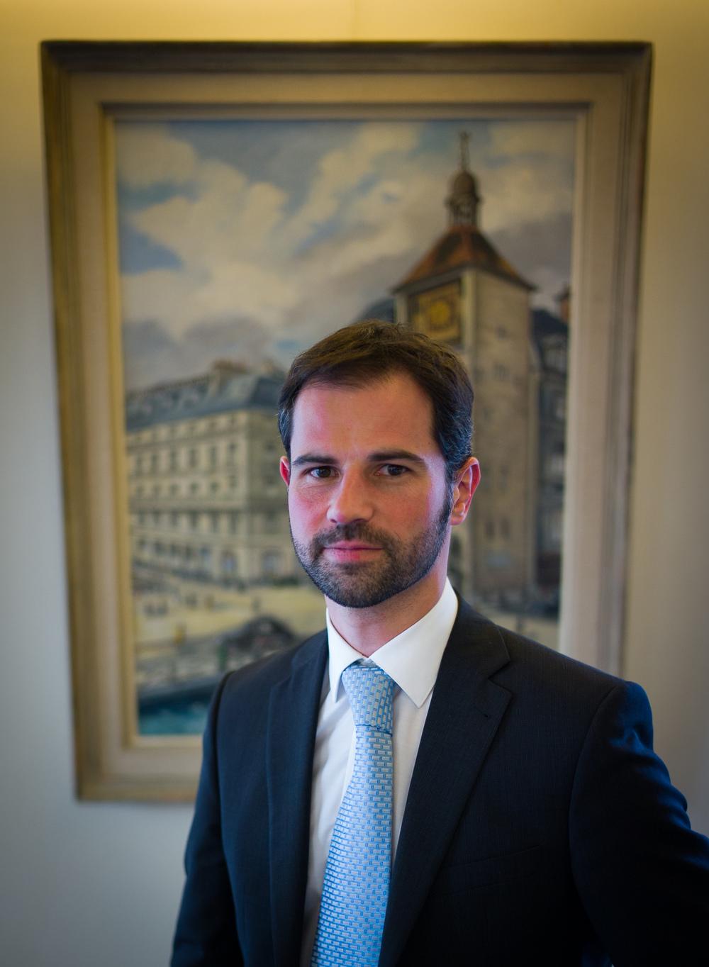 Jerome Meier, photographed inside the Vacheron Constantin historical maison, Geneva, Switzerland