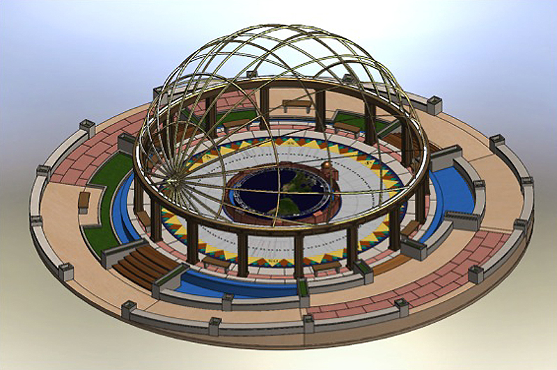 Rendering of the Chilpancingo Dial in Guerrero, Mexico