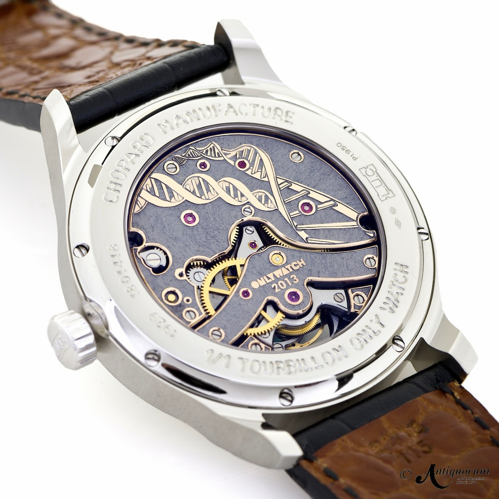 The Engraved Movement On The Chopard L.U.C For Only Watch 2013