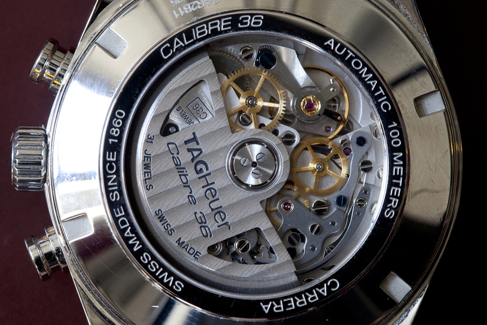 TAG Heuer Calibre 36 Movement, Based On The Zenith El Primero Flyback
