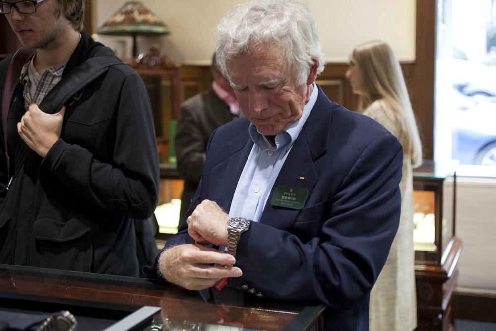 Don Walsh Tries On A Tudor Pelagos