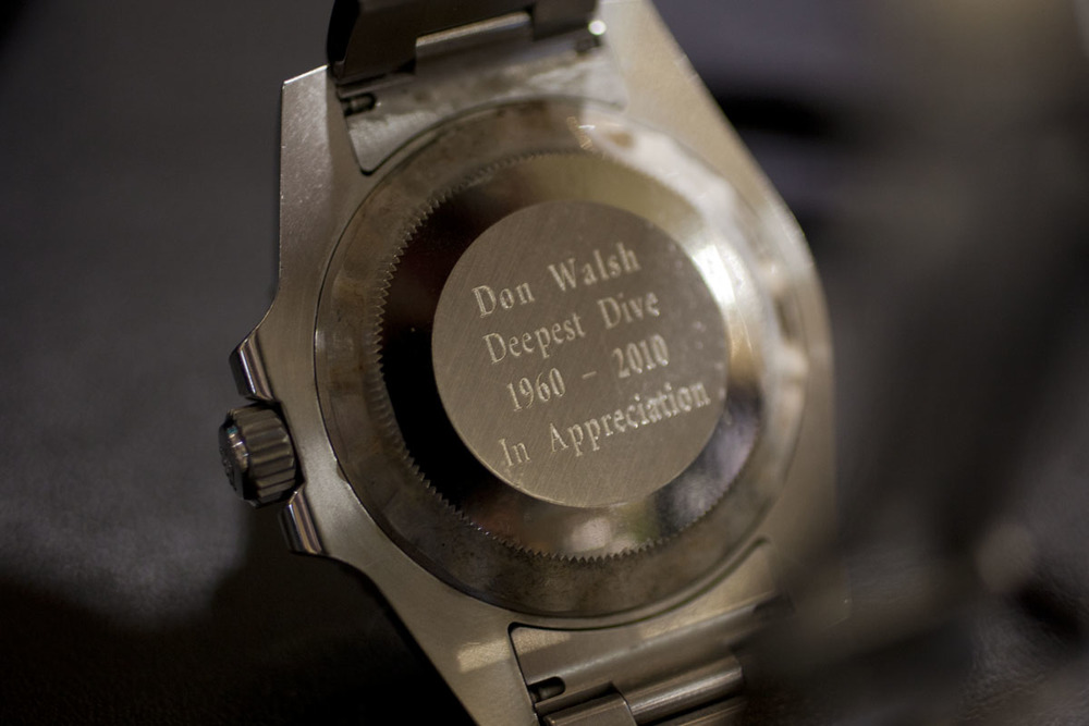 50-year Engraving On Don Walsh's Rolex Submariner