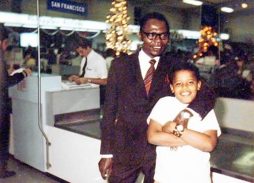 President Obama as a child...wearing a watch!