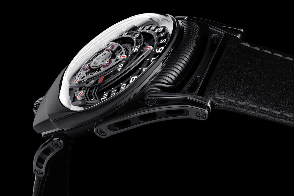 C3H5N3O9 Experiment ZR012 Black Zirconium Case With Articulated Lugs
