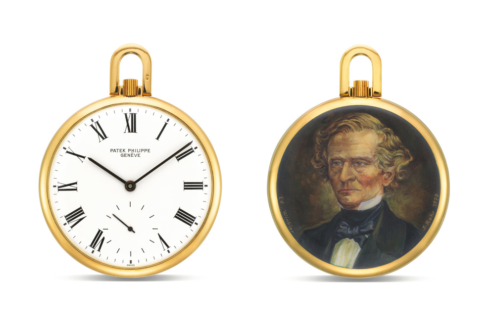 Patek Philippe Pocket Watch With Portrait Of Hector Berlioz
