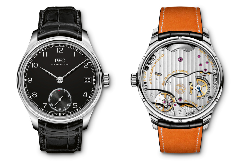 IWC Portuguese Hand-Wound Eight Days, Stainless Steel With Black Dial