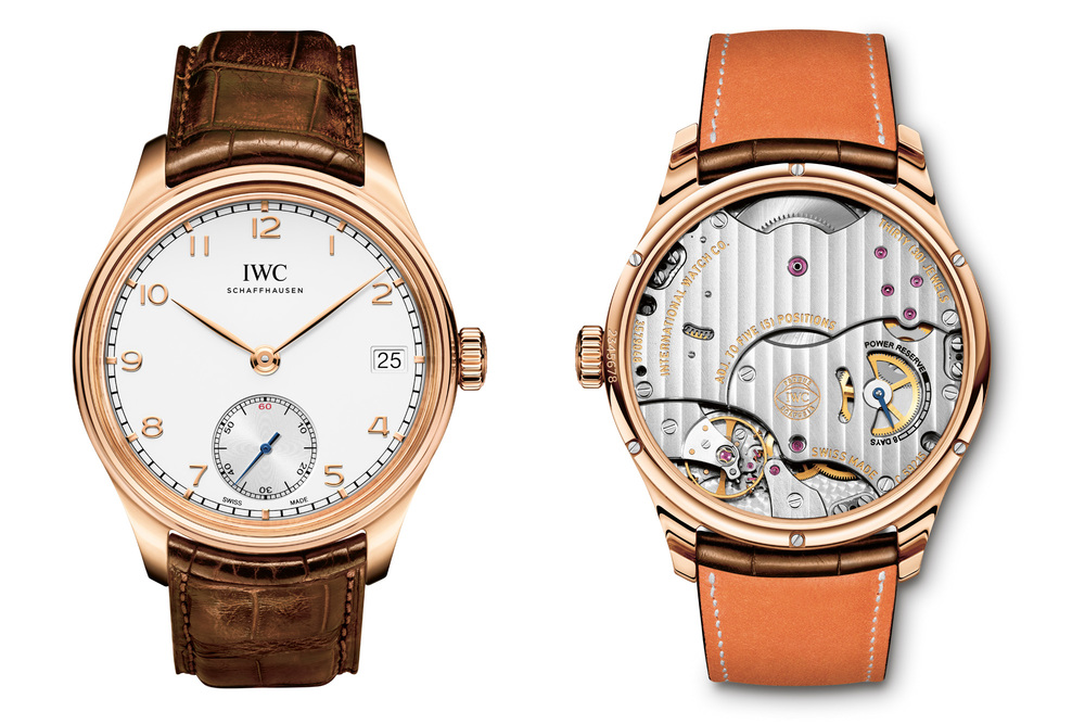 IWC Portuguese Hand-Wound Eight Days, Red Gold With Silver Dial